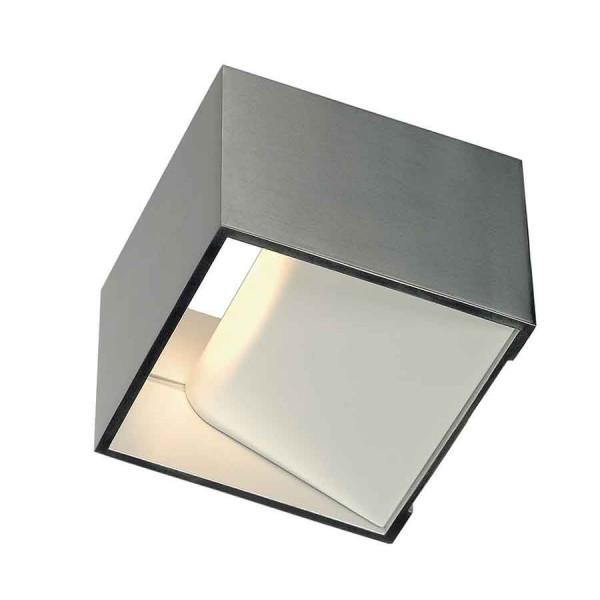 LOGS IN applique carrée alu brossé 5W LED 3000K