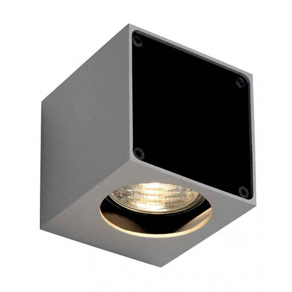 ALTRA DICE WL-1 applique carrée gris argentetnoir GU10 max 35W