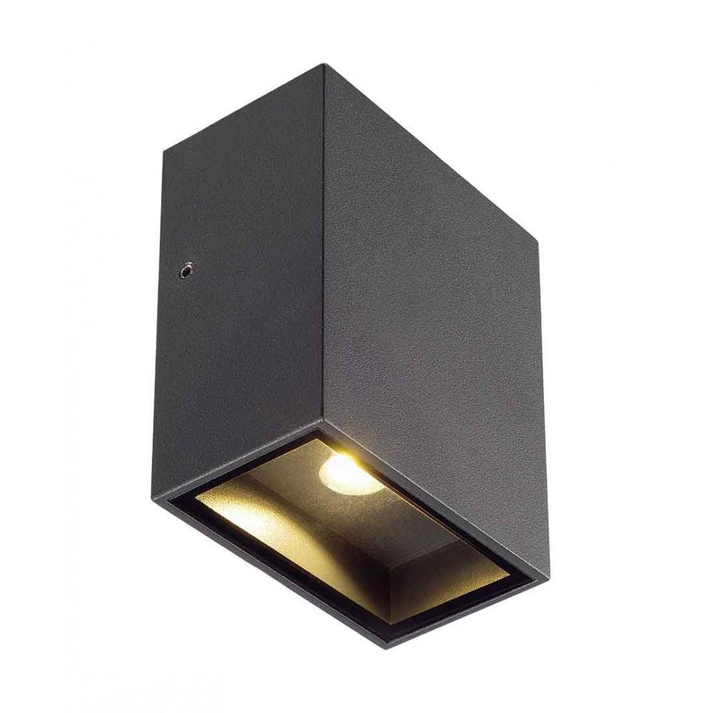 applique led ip 44 en alu gris anthracite. Black Bedroom Furniture Sets. Home Design Ideas