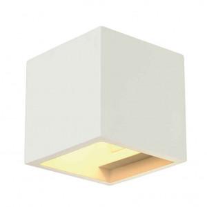 PLASTRA CUBE applique carré plâtre blanc G9 max 42W