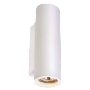 PLASTRA TUBE rond applique plâtre blanc GU10
