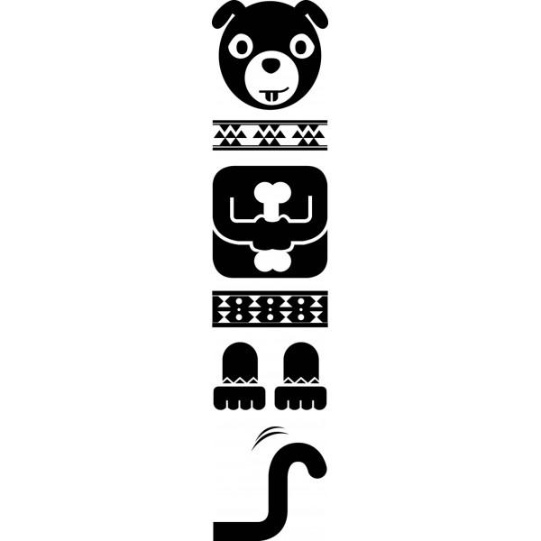 Sticker Totem Chien noir