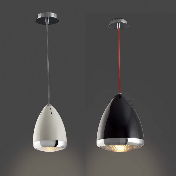 Suspension en forme de phare de vespa luminaire faro - Suspension salon design ...