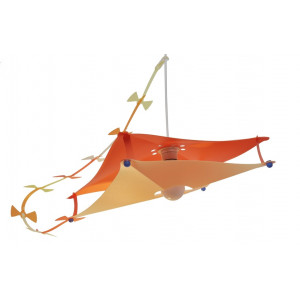 Suspension enfant cerf volant orange