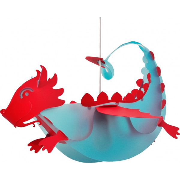 Suspension enfant dragon bleu et rouge