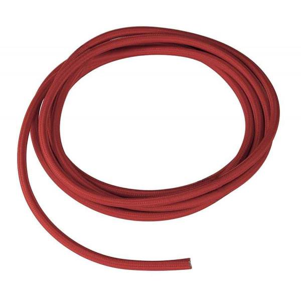 CABLE TEXTILE 10m rouge 3 pôles
