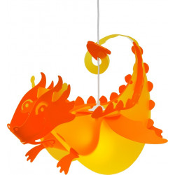 Suspension enfant dragon jaune et orange