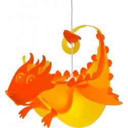 Suspension enfant dragon jaune et orange