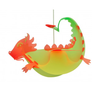 Suspension enfant dragon rouge et vert