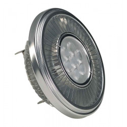 LED QRB111 gris argent 195W 30° 4000K variable