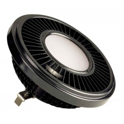 LED QRB111 noir 195W 140° 2700K variable
