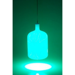 Suspension lampe Bulb bleu