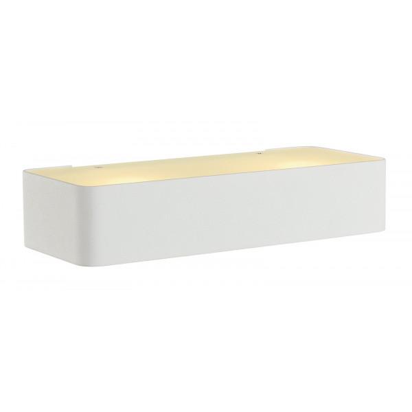 Applique blanche design acier