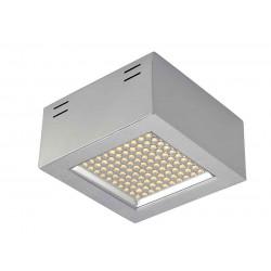 LEDPANEL 100 SMD CL plafonnier carré gris argent 3000K