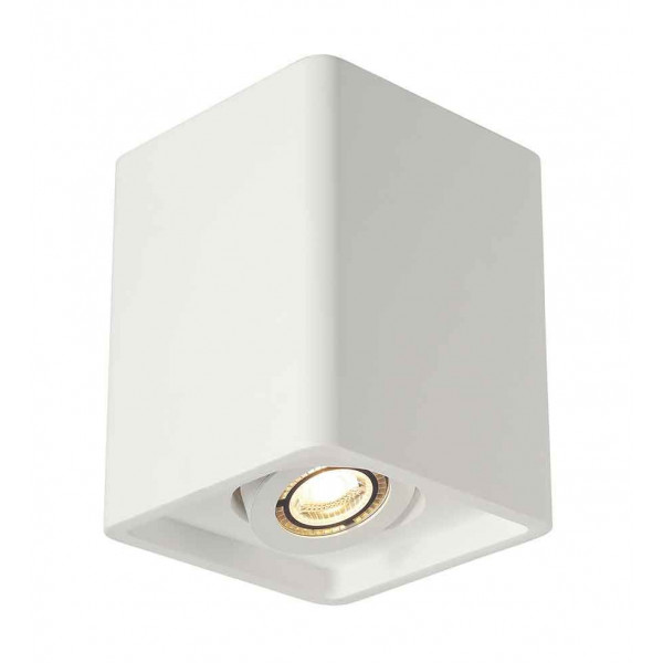 PLASTRA BOX 1 plafonnier carré plâtre blanc GU10 max 35W