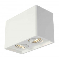 PLASTRA BOX 2 plafonnier carré plâtre blanc 2x GU10 max 2x 35W