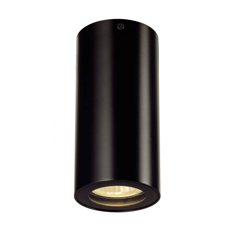 Plafonnier rond noir gu10 35 w for Plafonnier noir