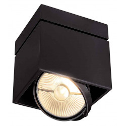 KARDAMOD SURFACE CARRE ES111 SINGLE plafonnier noir GU10 max 75W