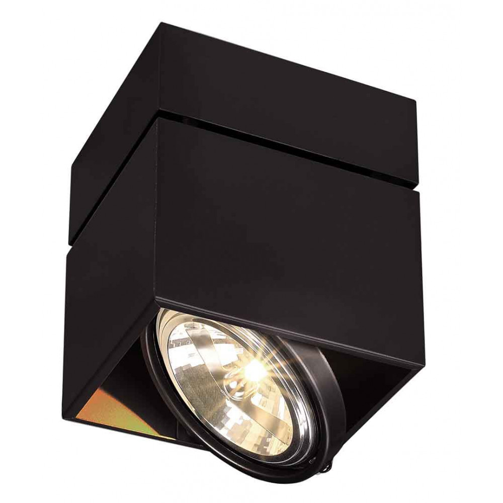 plafonnier carr noir g53 50 w. Black Bedroom Furniture Sets. Home Design Ideas