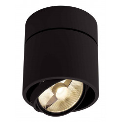 KARDAMOD SURFACE ROND ES111 SINGLE plafonnier noir GU10 max 75W