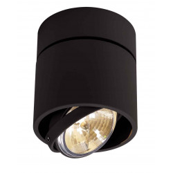 KARDAMOD SURFACE ROND QRB111 SINGLE plafonnier noir max 50W