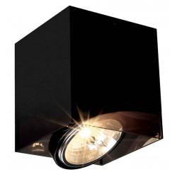 ACRYLIC BOX SINGLE QRB111 plafonnier carré noirettranslucide max 75W
