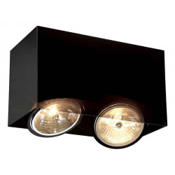 ACRYLIC BOX DOUBLE QRB111 plafonnier rectangulaire noirettranslucide max 2x50W