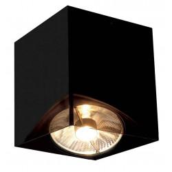 ACRYLIC BOX SINGLE ES111 plafonnier carré noirettranslucide max 75