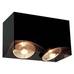 ACRYLIC BOX DOUBLE ES111 plafonnier rectangulaire noirettranslucide max 2x75W