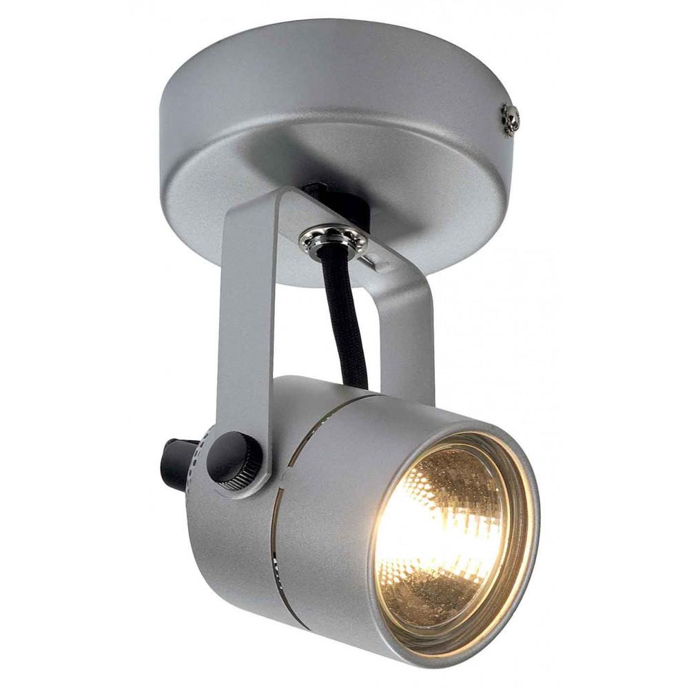 Spot aluminium gris argent 50 w for Spot applique exterieur