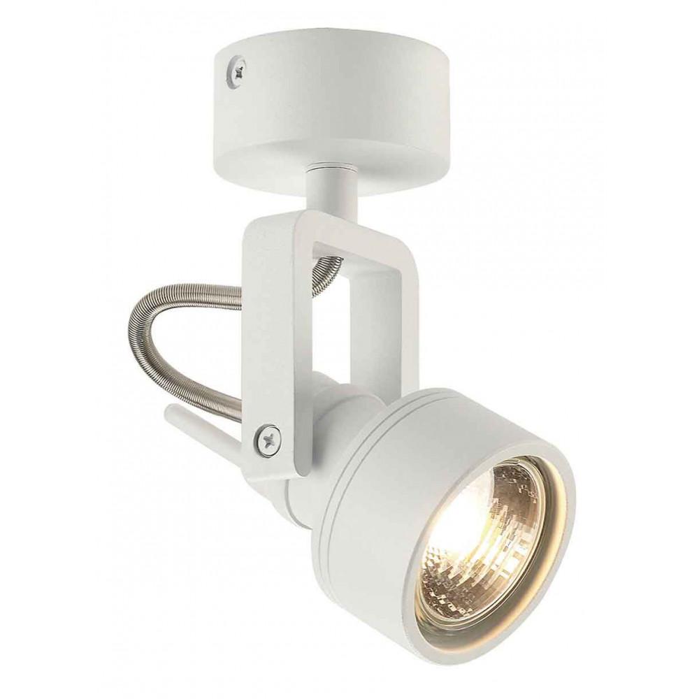 Spot aluminium blanc mat 50 w for Spot applique exterieur