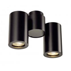 ENOLA_B SPOT 2 applique et plafonnier noir GU10 max 2x50W
