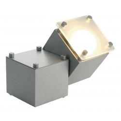 SQUARE DICE 1 applique et plafonnier carré gris argent GU10 max 50W