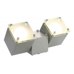 SQUARE DICE 2 applique et plafonnier carré gris argent GU10 max 2x50W