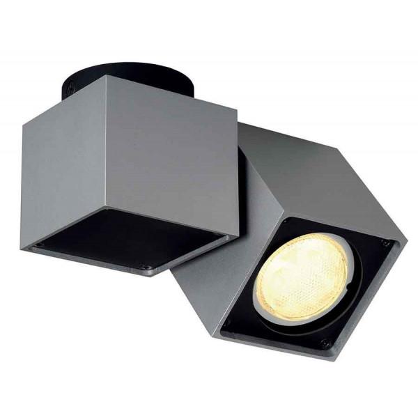 ALTRA DICE SPOT 1 plafonnier carré gris argentet noir GU10 max 50W