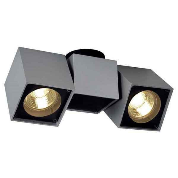 ALTRA DICE SPOT 2 plafonnier gris argentetnoir 2x GU10 max 2x 50W