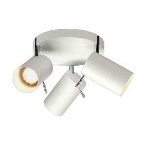 ASTO TUBE 3 ROND applique patère ronde blanc 3xGU10 max 75W