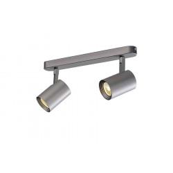 DEBASTO double applique et plafonnier gris argent LED 2x7W 3000K