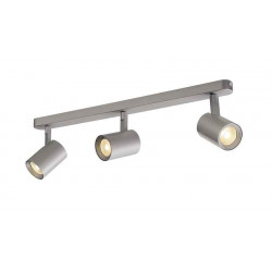 DEBASTO triple applique et plafonnier gris argent LED 3x7W 3000K