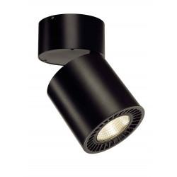 SUPROS CL plafonnier rond noir 2100lm 3000K SLM LED 60° réflecteurs