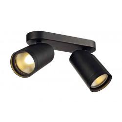 BILAS spot double 25° LED rond noir 2x15W 2700K avec patère