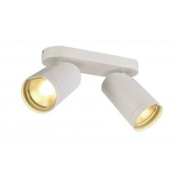 BILAS spot double 25° LED rond blanc 2x15W 2700K avec patère
