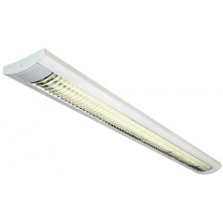 TRISTAN T8 plafonnier rectangulaire blanc 2x T8 36W