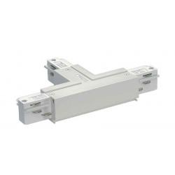 EUTRAC connecteur en T terre droite blanc