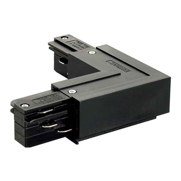 EUTRAC connecteur 90° terre extérieure noir