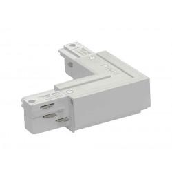 EUTRAC connecteur 90° terre extérieure blanc