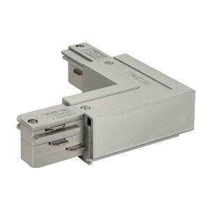 EUTRAC connecteur 90° terre extérieure gris argent