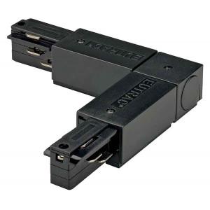 EUTRAC connecteur 90° terre intérieure noir