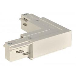 EUTRAC connecteur 90° terre intérieure blanc