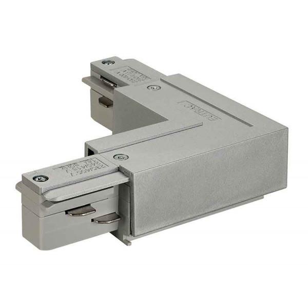 EUTRAC connecteur 90° terre intérieure gris argent